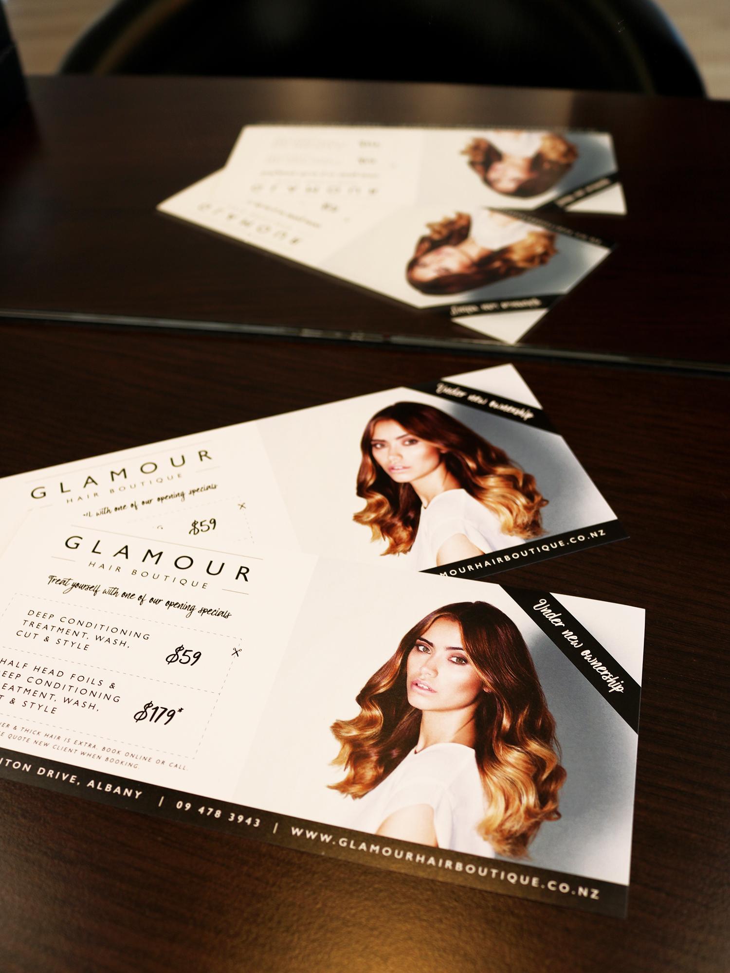 Glamour Hair Boutique DLE Flyer Design