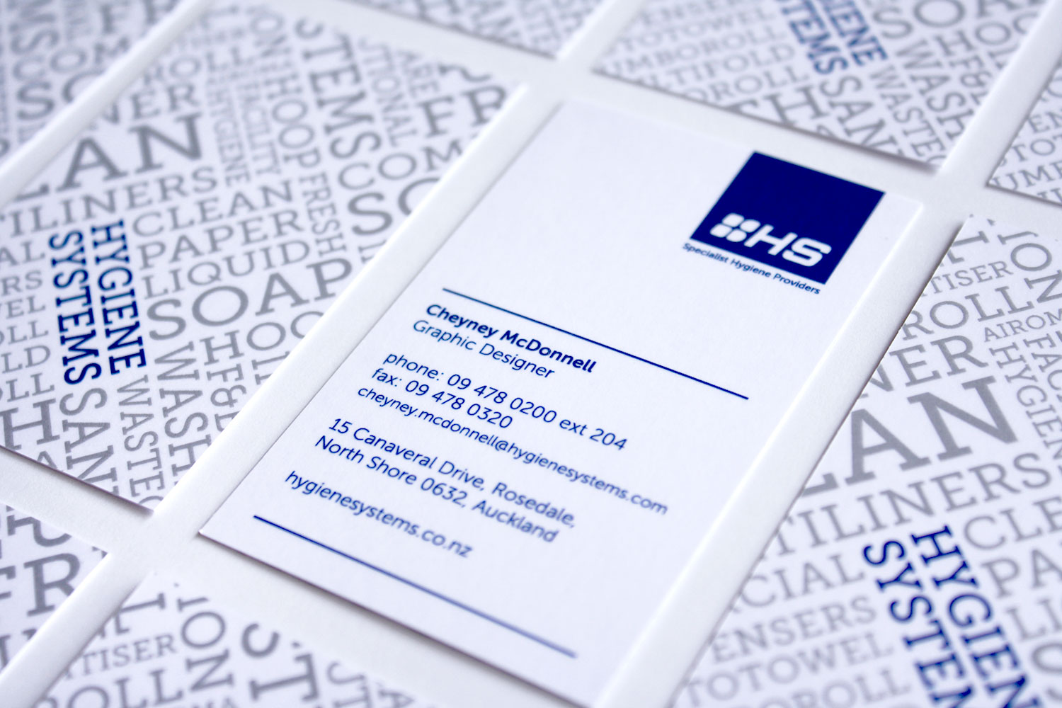 Hygiene Systems Business Cards