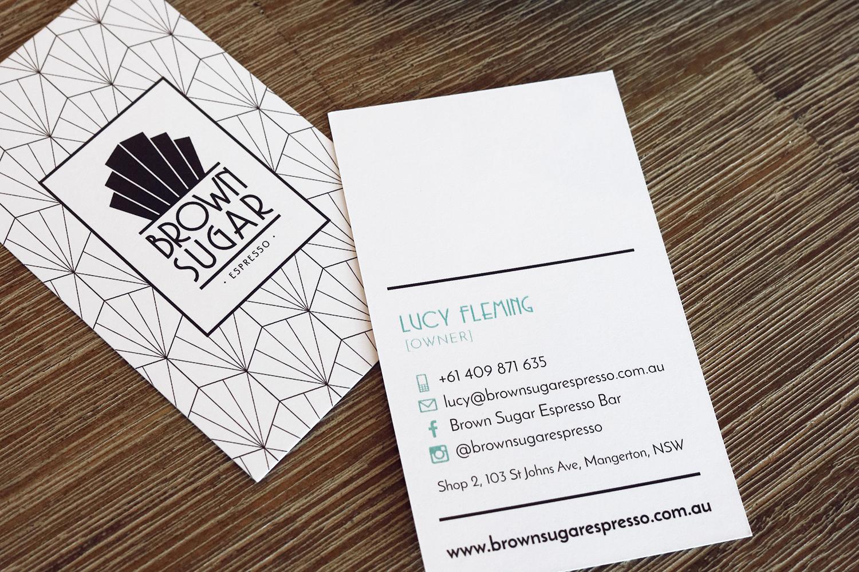 Brown Sugar Espresso Business Cards