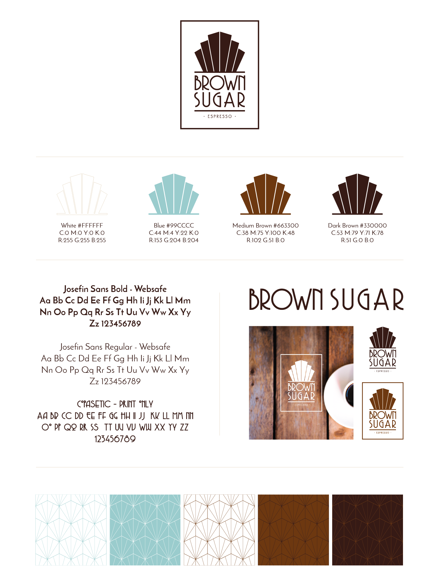 Brown Sugar Espresso Branding Board