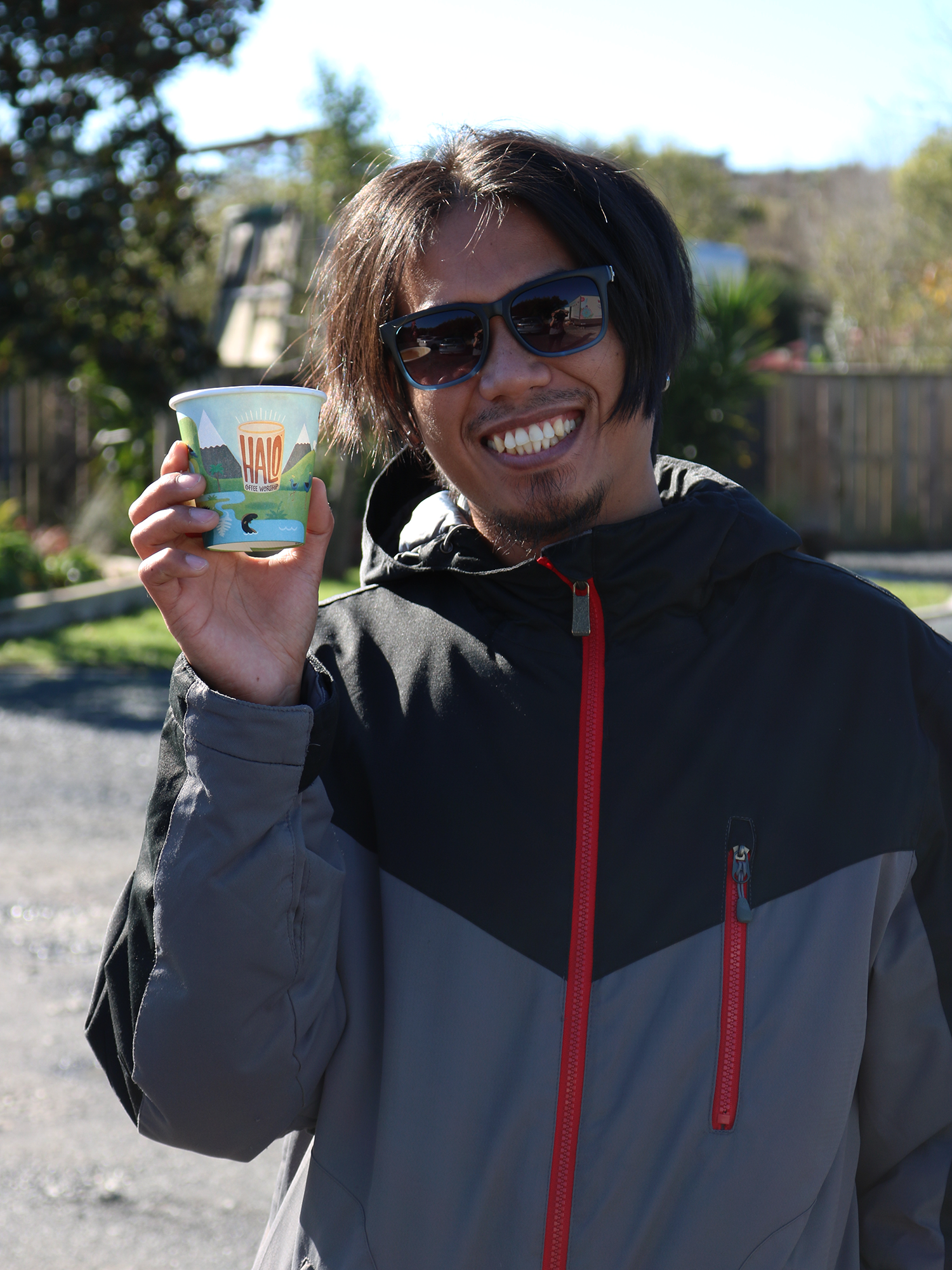 Ikr with his  Halo Coffee !