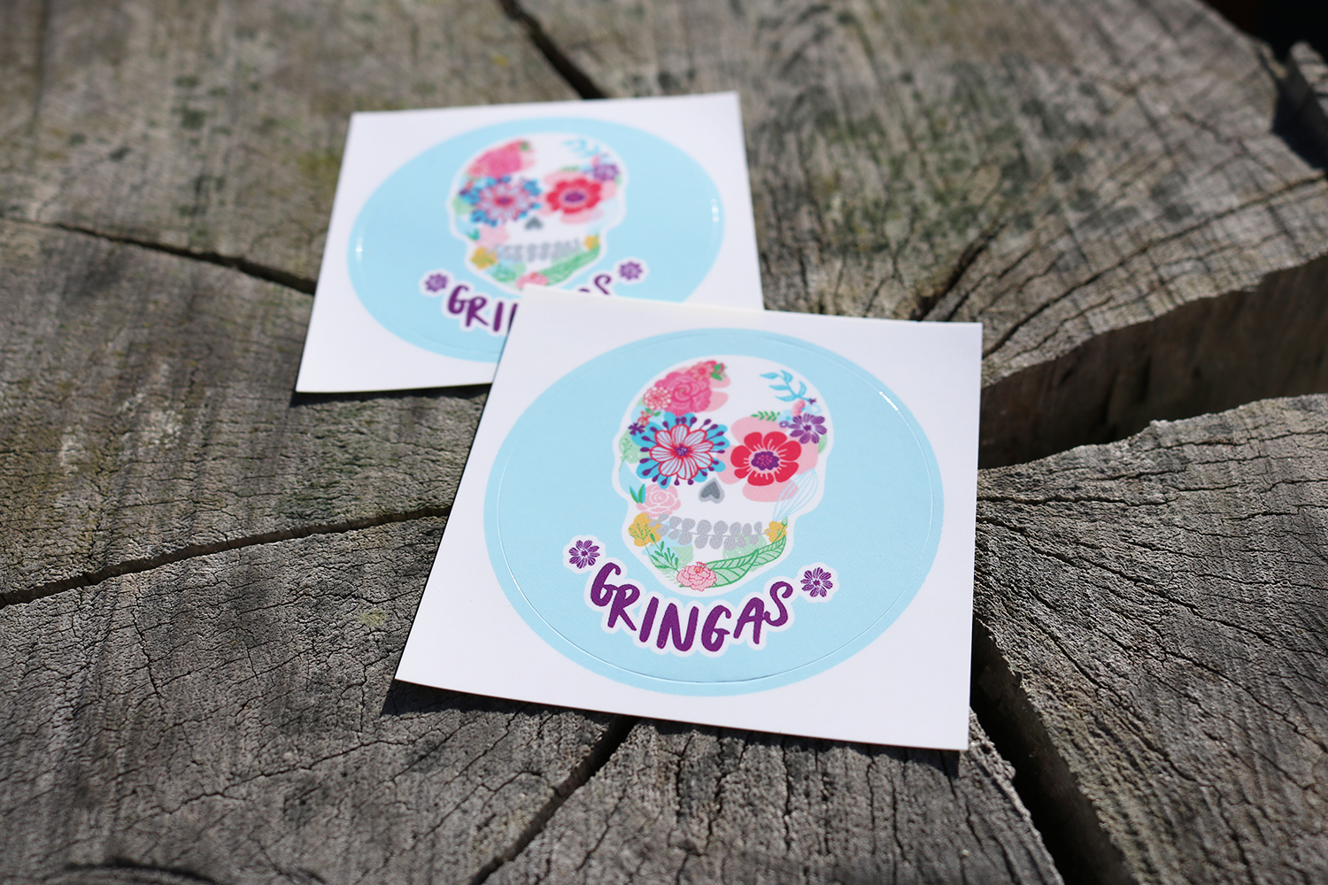 Gringas stickers - The kids loved these on opening day!