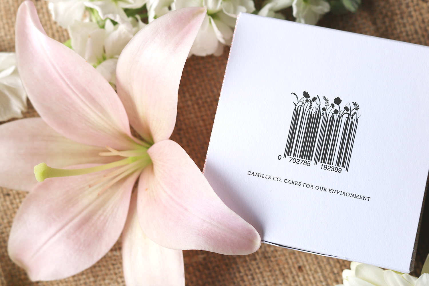 Floral Barcode Camille Co.