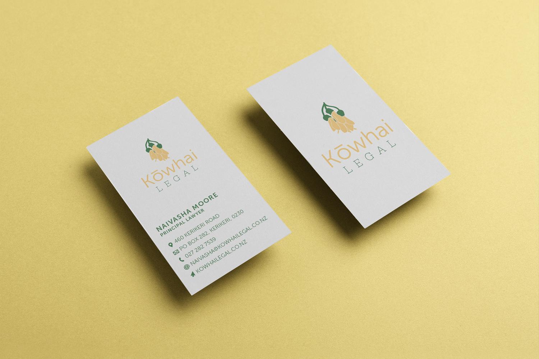 Kowhai Legal Business Card Design