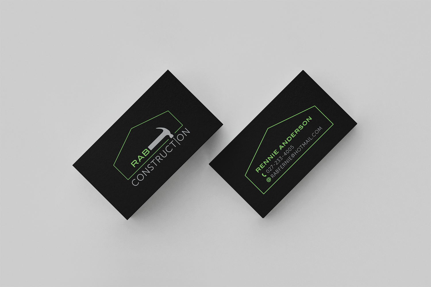 RAB Construction Business Card Design