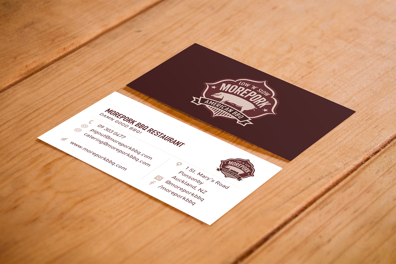 Morepork BBQ Business Cards