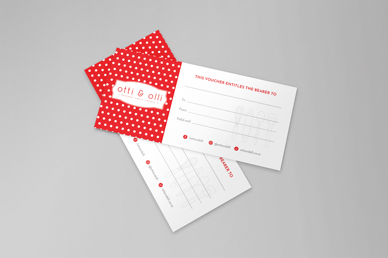 DL size gift vouchers for Otti and Olli