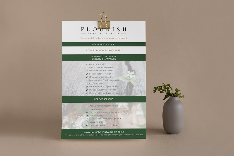 Flourish Beauty Careers A5 Flyer