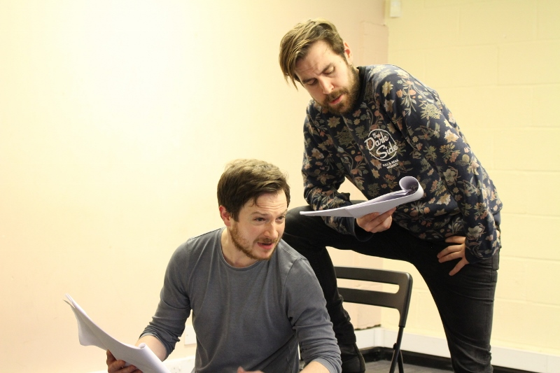 Daniel Foxsmith (John Rolfe) and Salvatore D'Aquilla (John Smith)