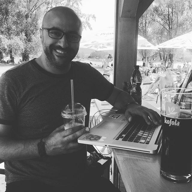 True #DigitalNomad @nomadpacker in very hot ☀️#Czechia 🇨🇿 ---- #startup #onthemove #entrepreneurlife #startuplife #beachlife #summerday #digitalnomads #worklifebalance #cucumber #juice #kofola #czechrepublic #entrepreneurship #entrepreneurs #sun #heat #iphoneonly #travel #travellife #travelgram #photooftheday #photoaday