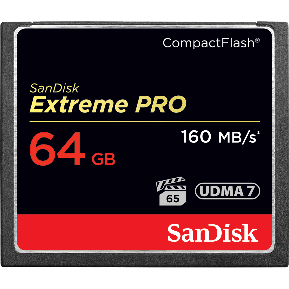 SanDisk Extreme Pro CF 64GB 160MB/s - 12€ Day/Unit