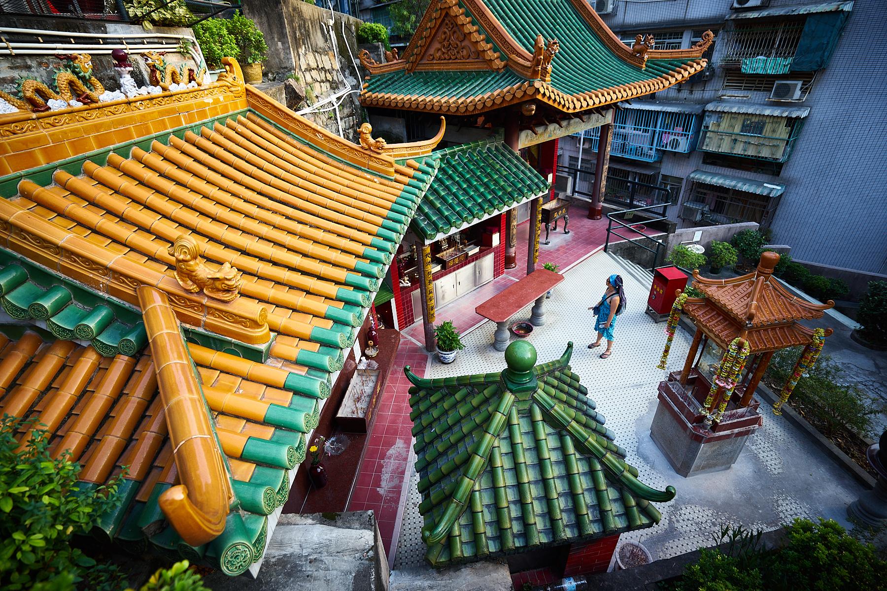 Temple Visitor, Macau
