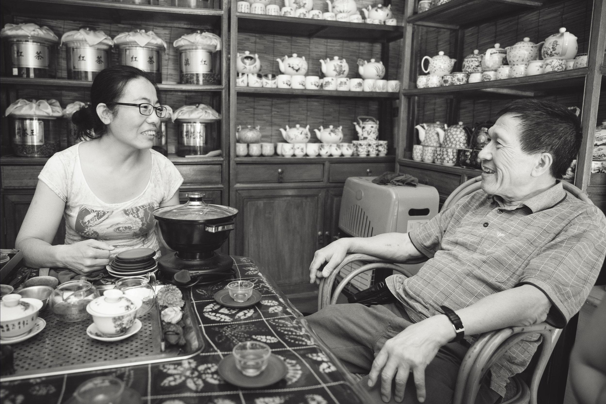 We shared tea