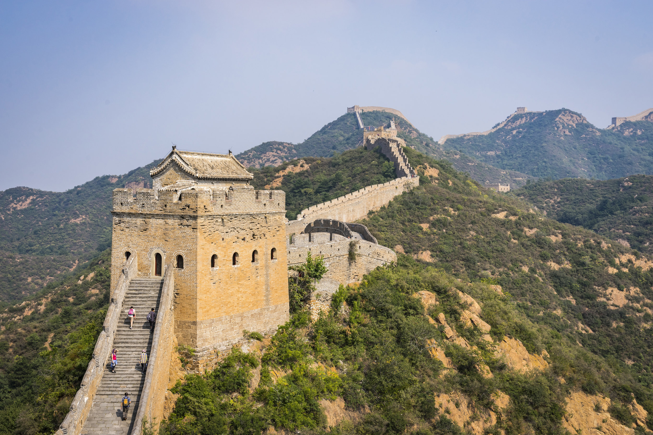 We climbed the great wall...