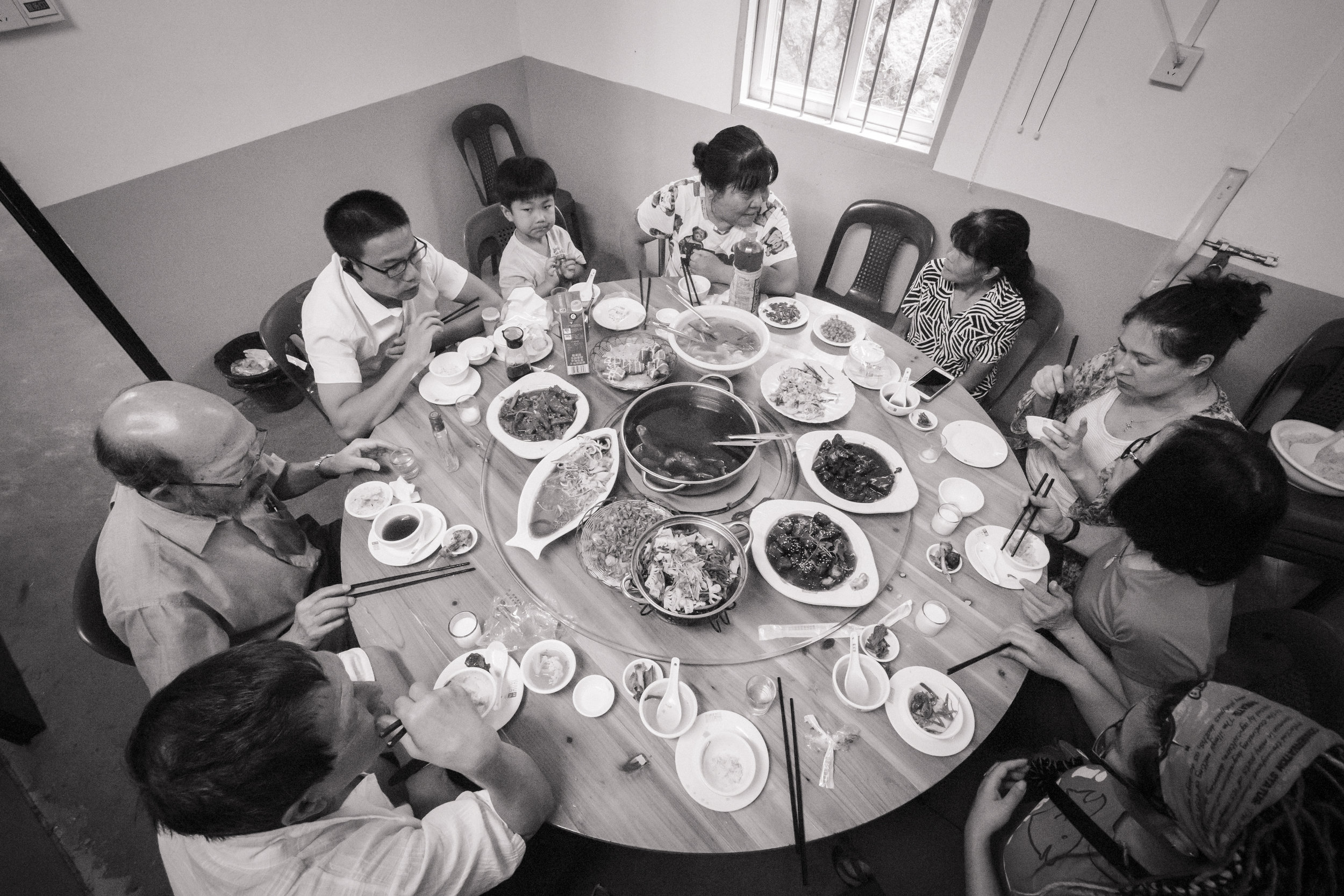 We shared a meal with the poorest of our family, who gave generously