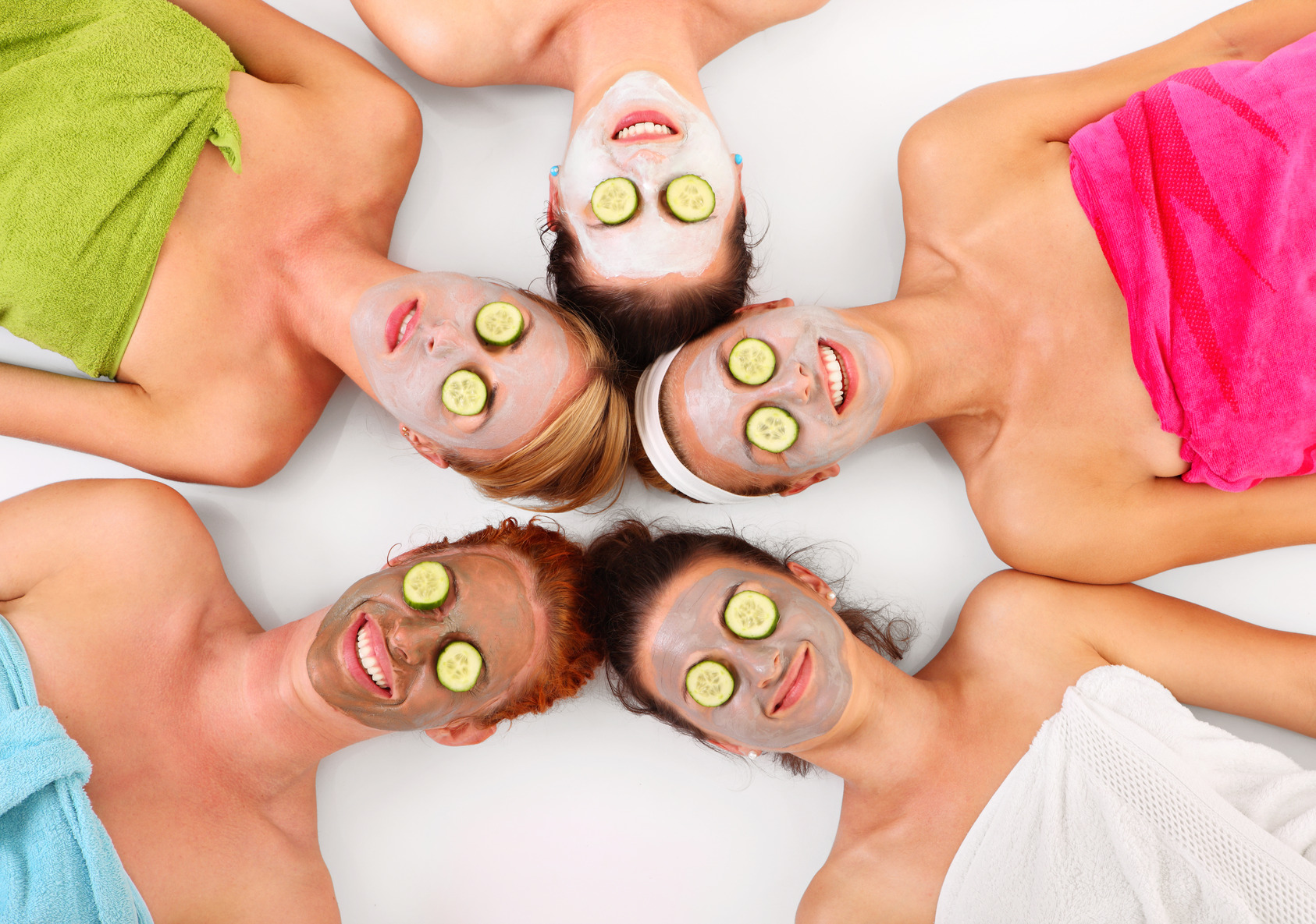 three happy ladies at spa party package spa treatments manchester