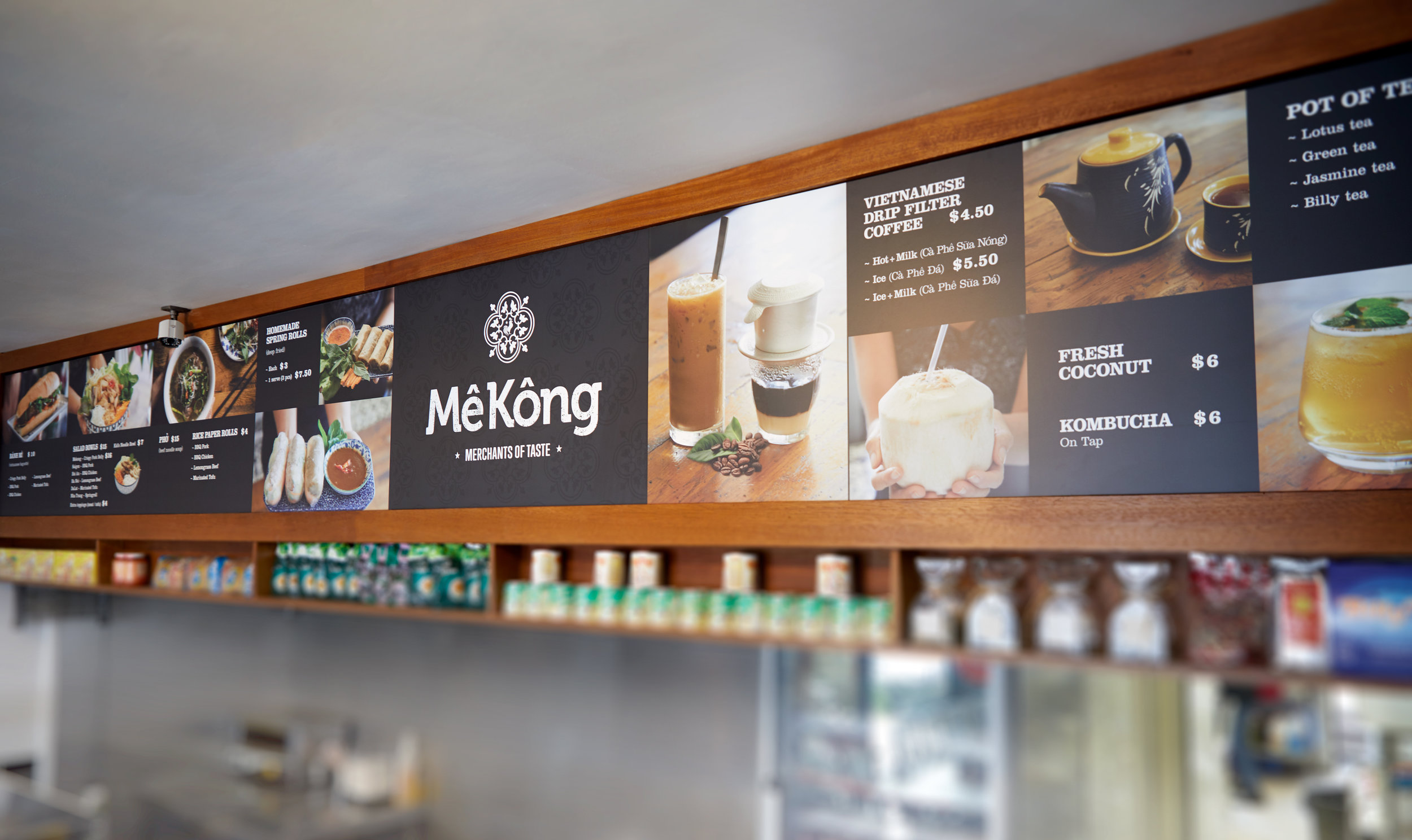 Mekong Vietnamese Restaurant Menu Board