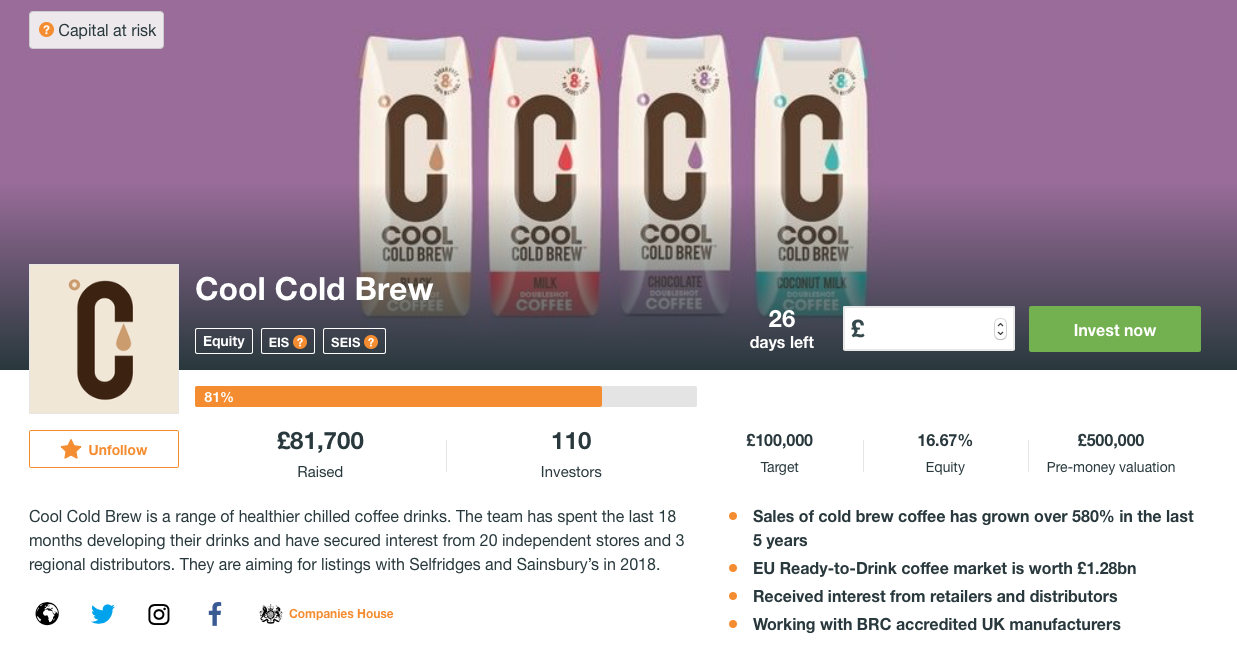 Cool Cold Brew on Crowdcube