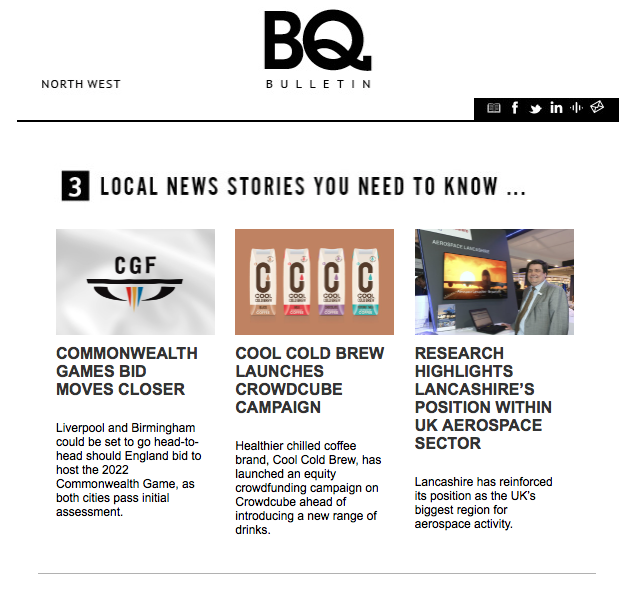 Cool Cold Brew on BQ Live Newsletter