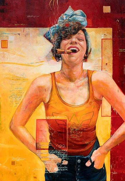 """La Marvavillosa Forma De Ser Quien Soy"" 200x150 cm. SOLGT"