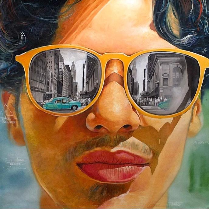 """""""De La Habana A New York"""" 150x150 cm. SOLGT"""