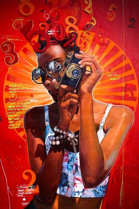 """Historias fotográficas"" 200x150 cm. SOLGT"