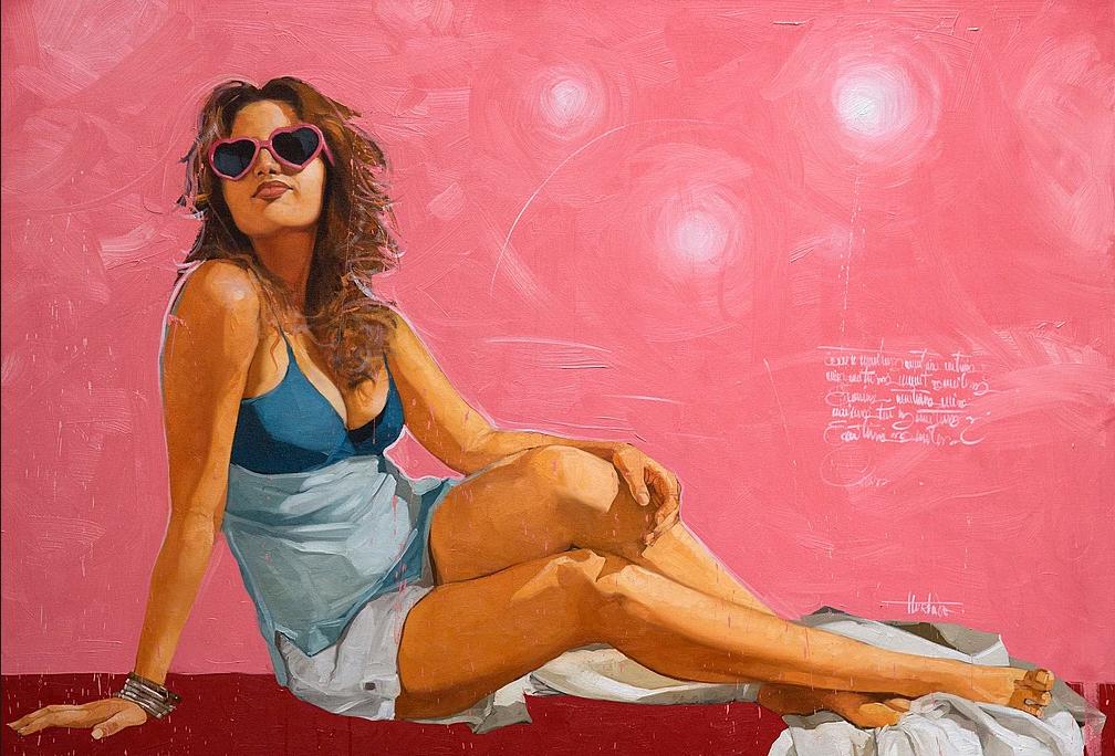 """""""Primavera"""" 90x130 cm. SOLGT"""