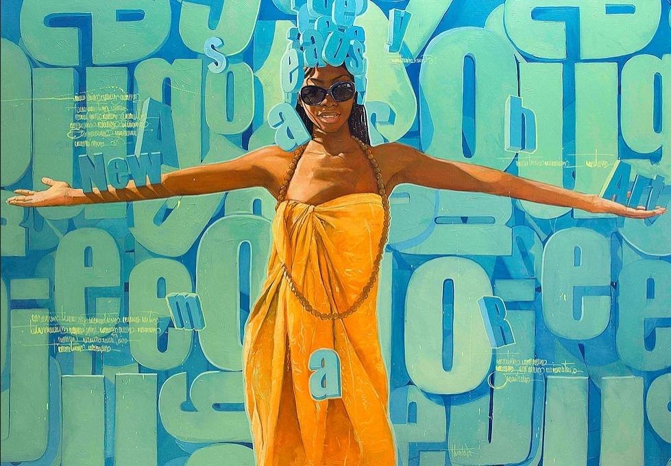 """""""New art"""" 150x200 cm. SOLGT"""