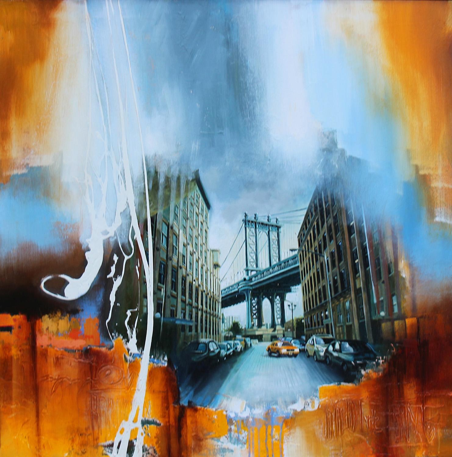 """Brooklyn Fatamorgana"" 100x100 cm. SOLGT"