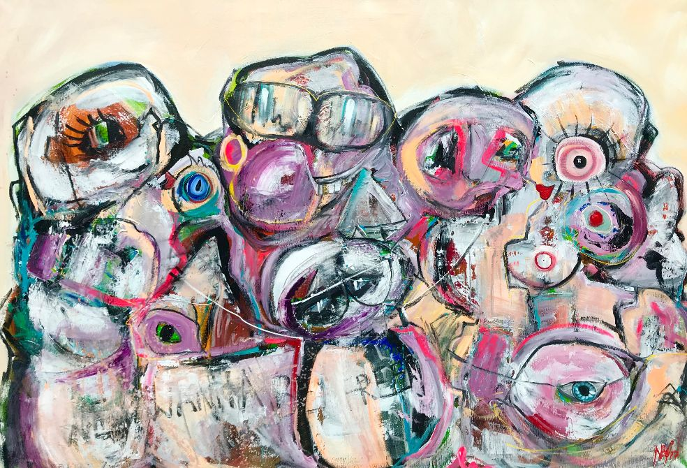 """""""We wanna be free"""" 110x160 cm. (Solgt)"""