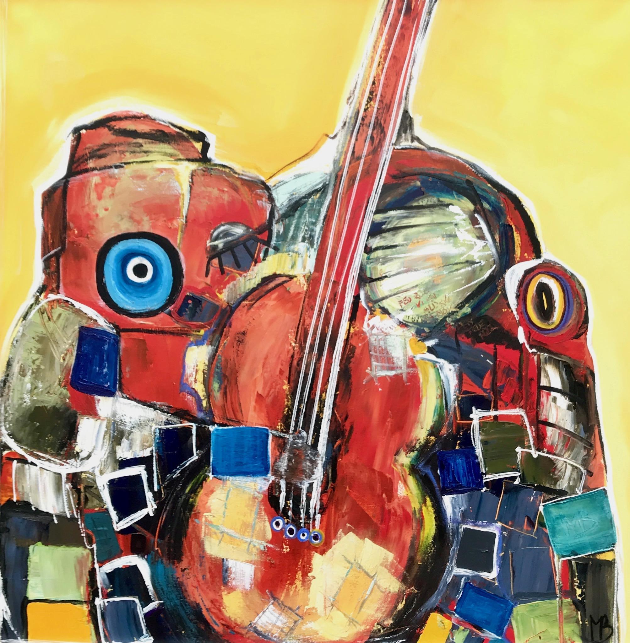 Mamba D'amour 100 x 100 cm. (solgt)