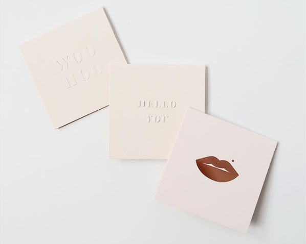 LoweCo - We're inspired by Catherine's Lowe's luxury inspired note cards. For the design, she takes the sleek, minimal approach but adds in her humor through the text. We absolutely love her product line!