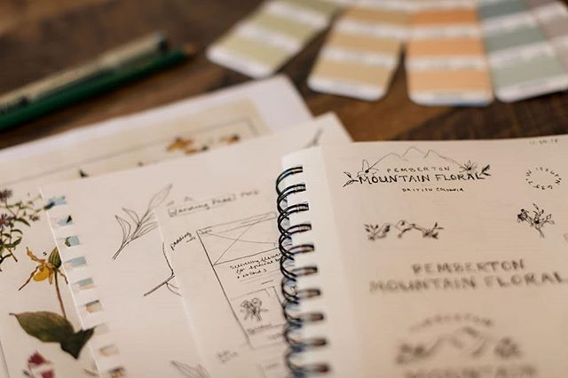 We absolutely love sketching up logo and submarks ideas for clients. This lovely sketch session included mountains, greenery and lots of florals. Excited to share the final logo soon! . . . . . #sketchings #pantone2019 #saturdaymood #floraldesign #branddesigner