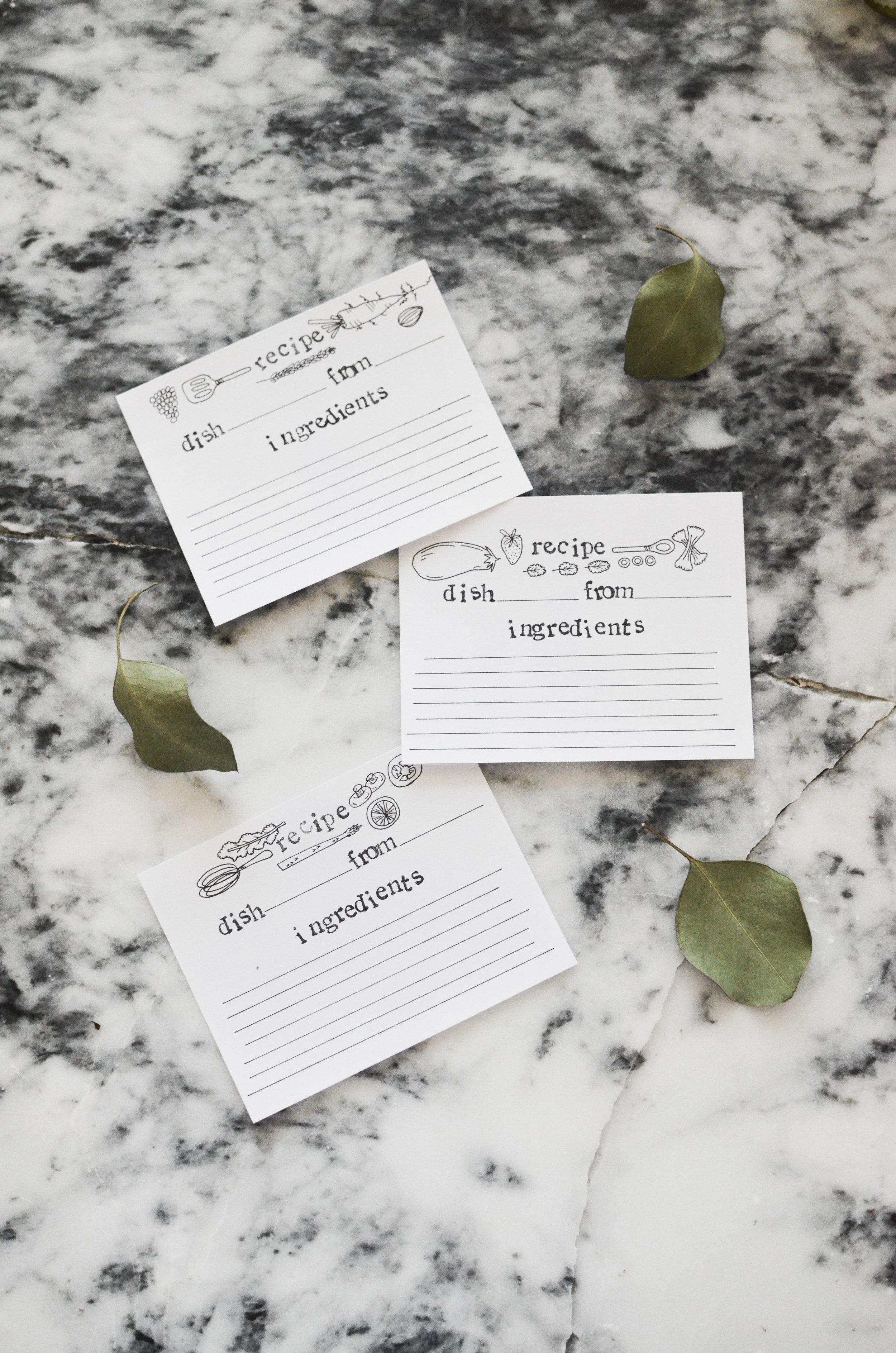 $5 | Recipe Cards