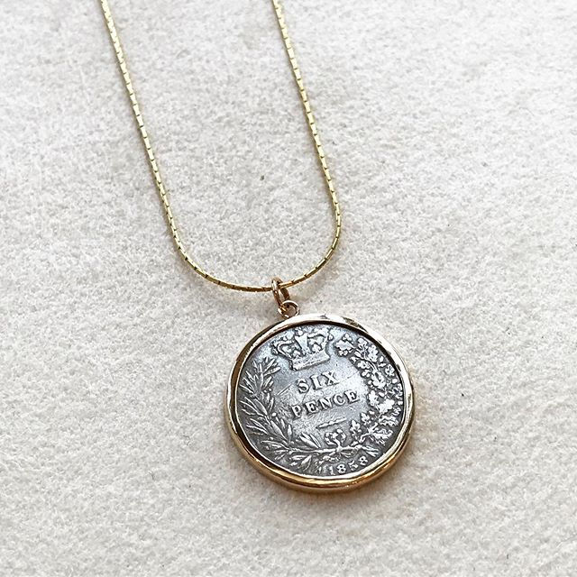 Take a look at this beautiful custom piece we helped make happen!! 🙌🏻⚒ this sentimental coin was set in a simple bezel, and then put on a chain for the perfect finish our customer was looking for 🙌🏻 — Do you have a custom project you need help with?! Maybe a special sentimental gift, or something simply unique and different? Stop by to chat with one of our expert jewelers who can help you make your ideas come to life 💍✨ #ShineBrightLikeADimeAndRegal