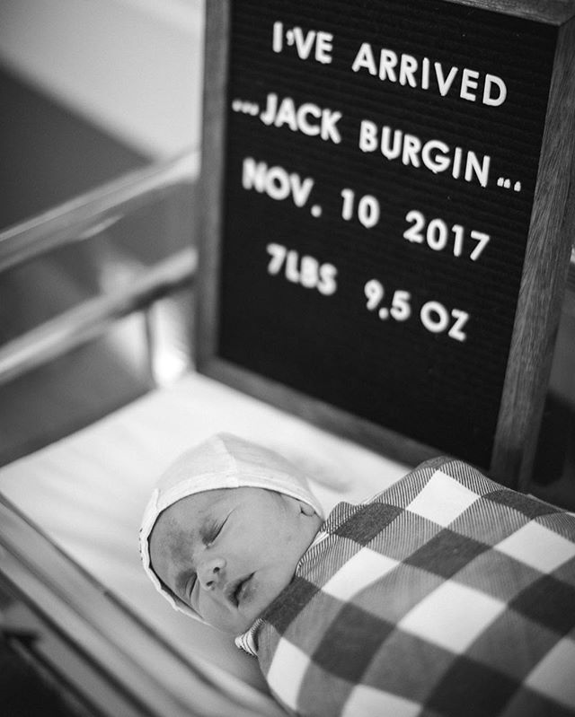 Our sweet boy is here and our hearts are overflowing with joy! Thank you to all of our A&M family for all the prayers, calls, and love that has been sent our way! #jackburginphotoaday #jbcunningham