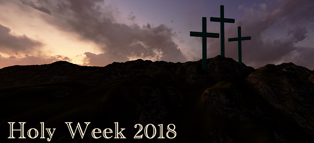 In Christian tradition, Holy Week begins on Palm Sunday and continues through Maundy Thursday and Good Friday until Easter Sunday. It is a time for Christians to reflect on the last week of Jesus' life. Make the most of this Holy Week. Please join us for worship.