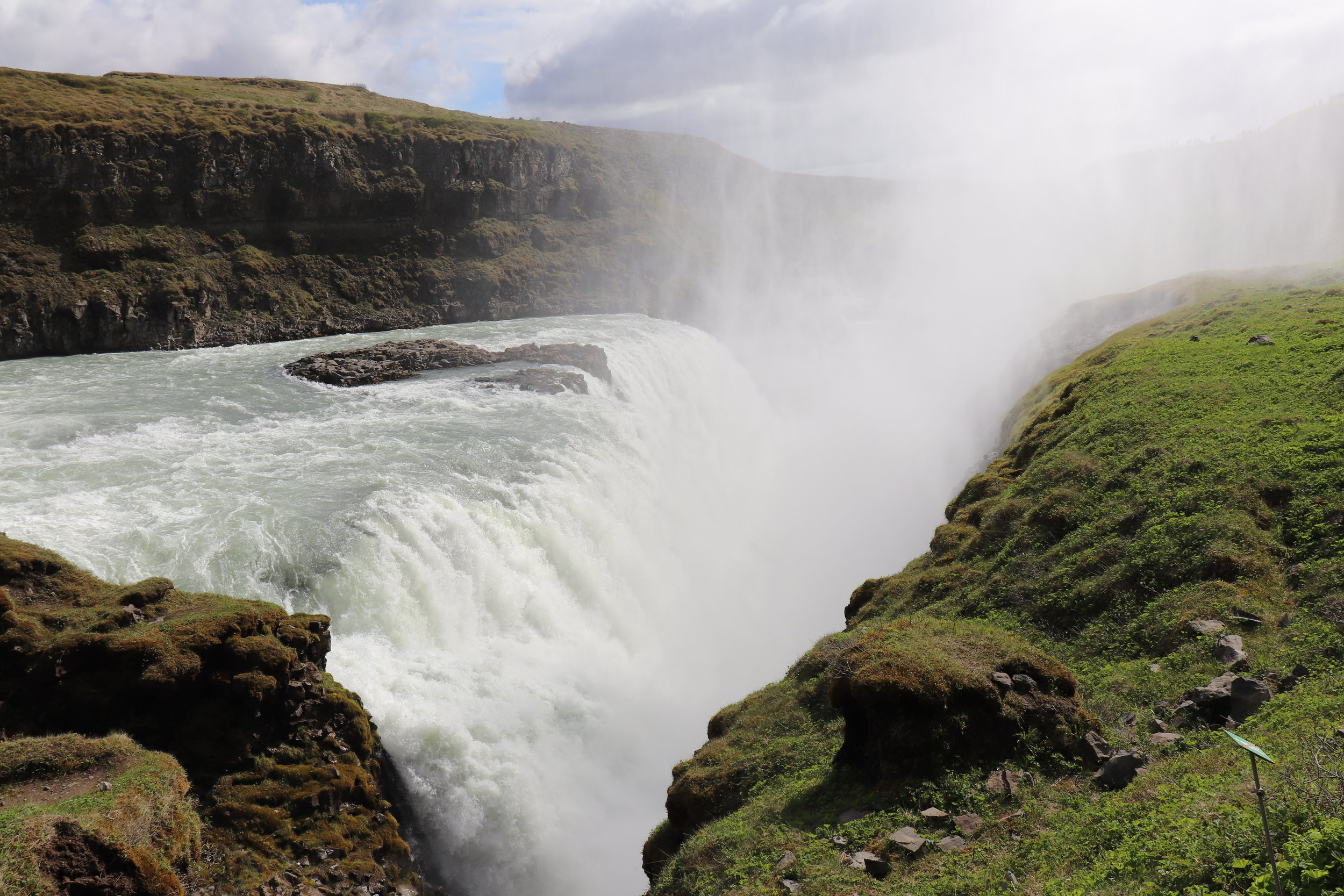 Gollfoss, Golden Circle waterfall in Iceland