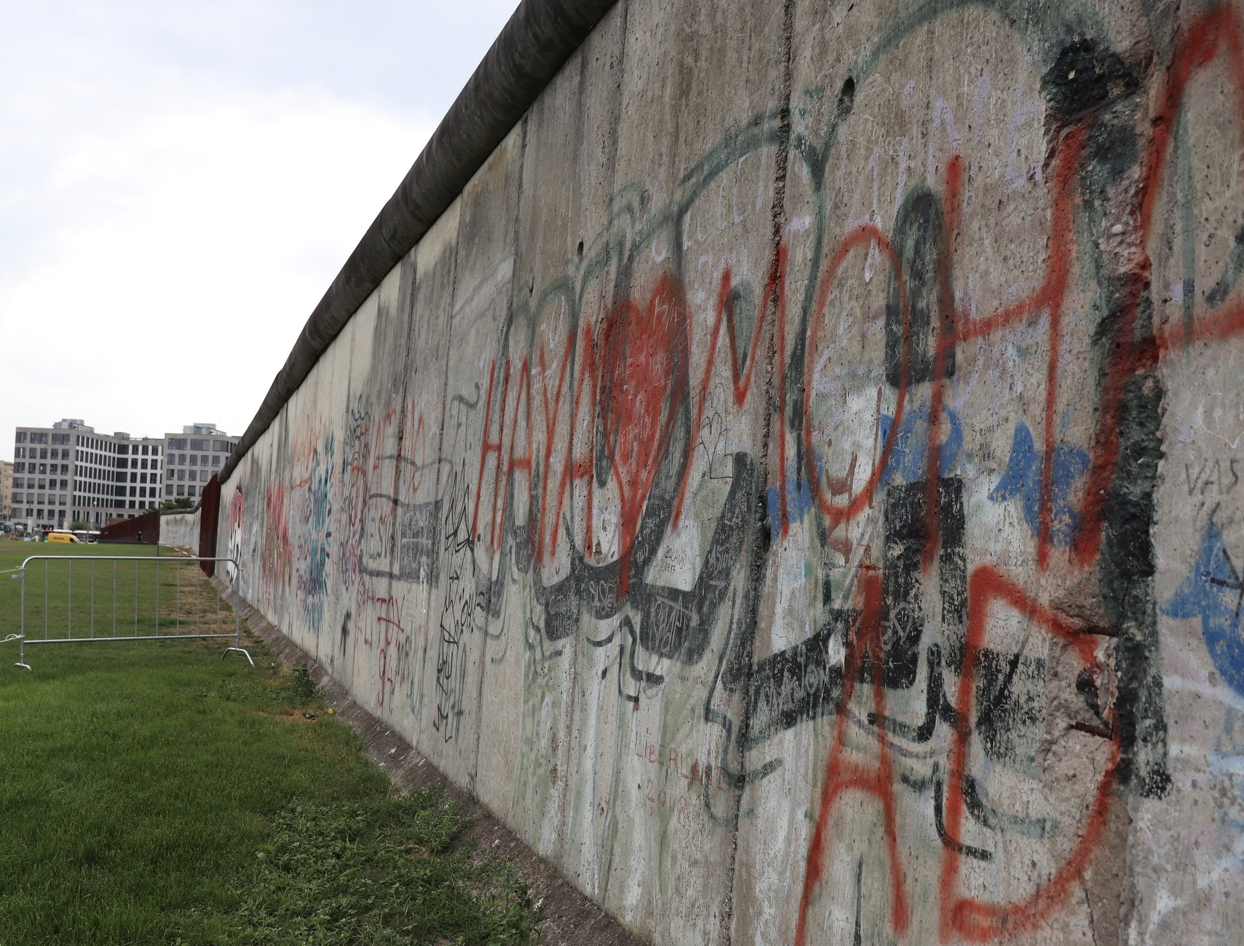 The largest remaining remnant of the Berlin Wall.