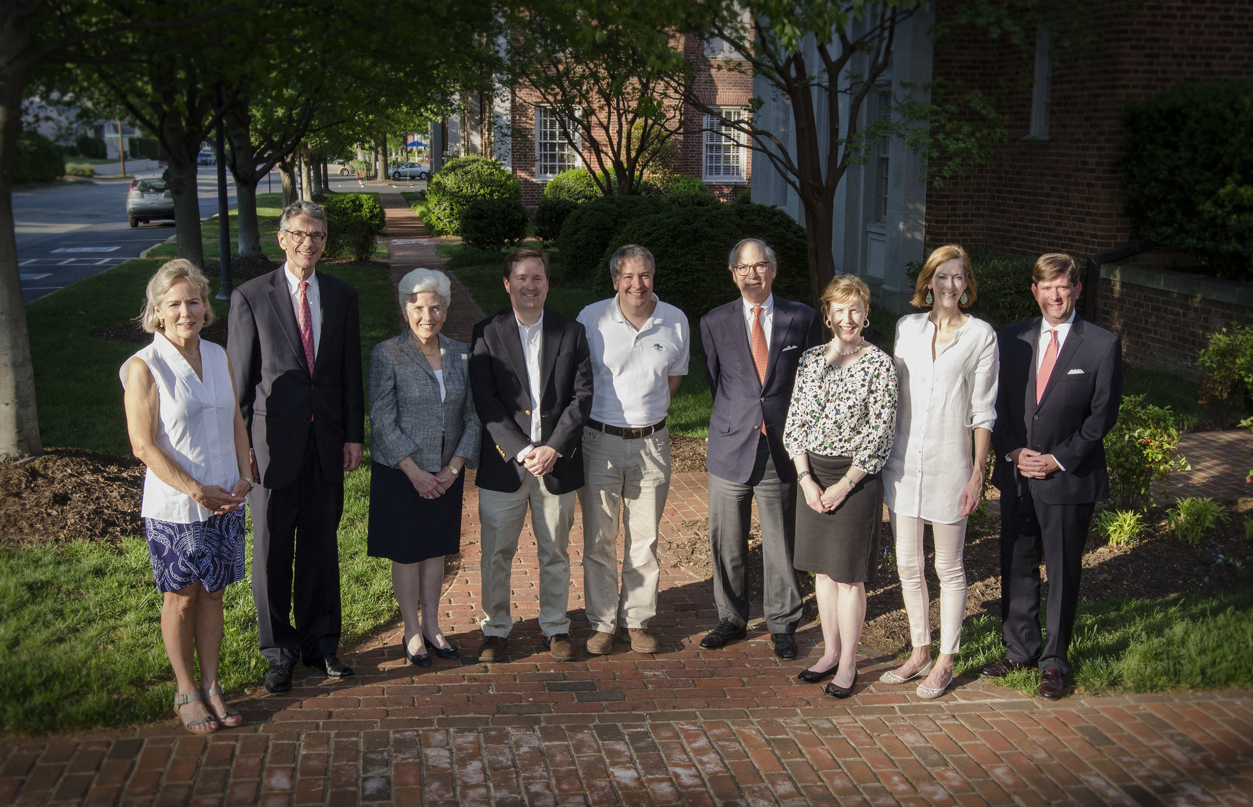 PNC (from left to right): Kathy Watson, Bill Garrison, Jane Peters, Les Yonce, Steve Mintz, Jay Johnston, Margaret Nimmo Holland, Kate Reynolds, Nelson Edmunds.