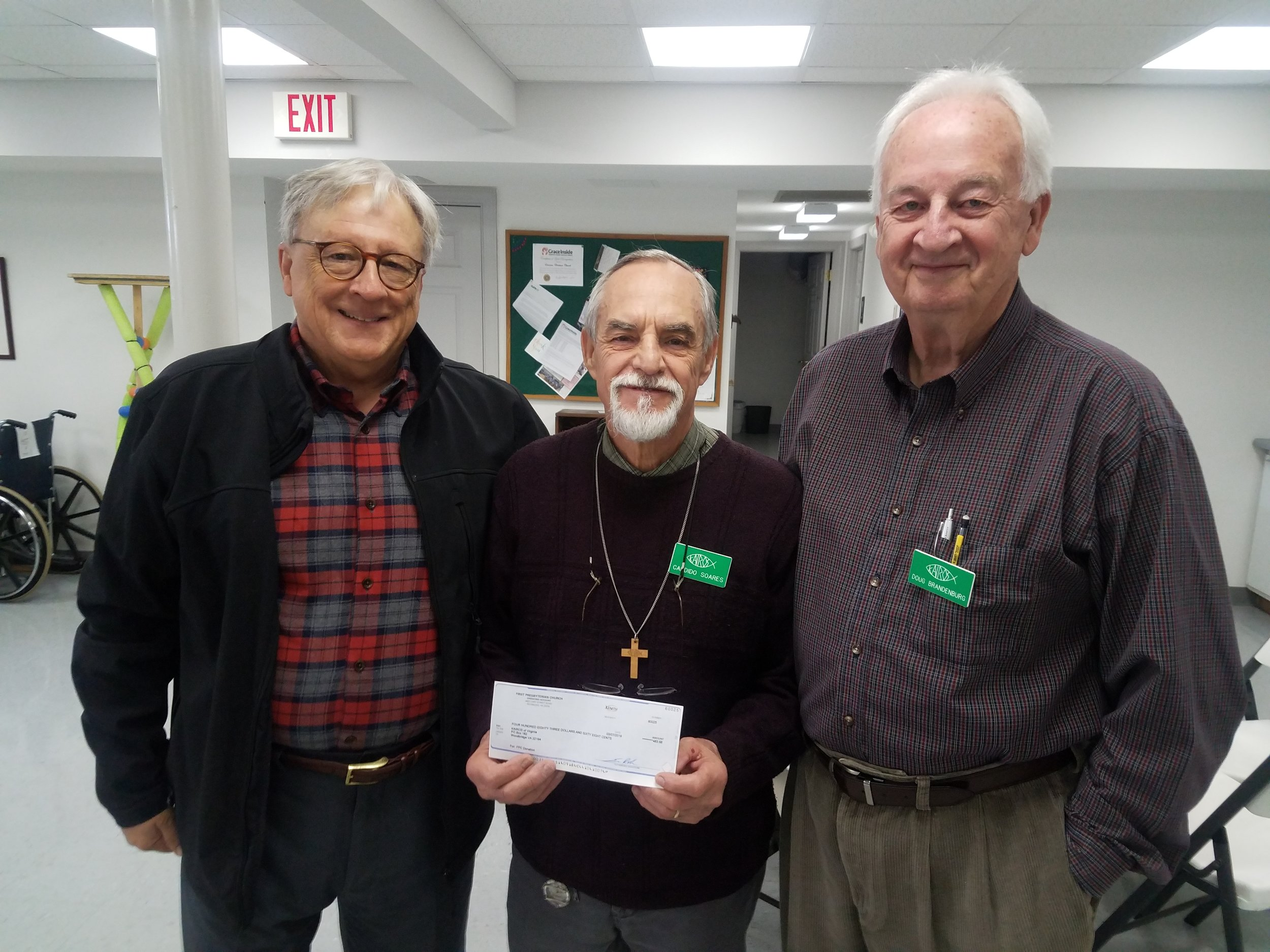 Jim Huitt, Candido Soares (Treasurer), Doug Brandenburg, Team Leader