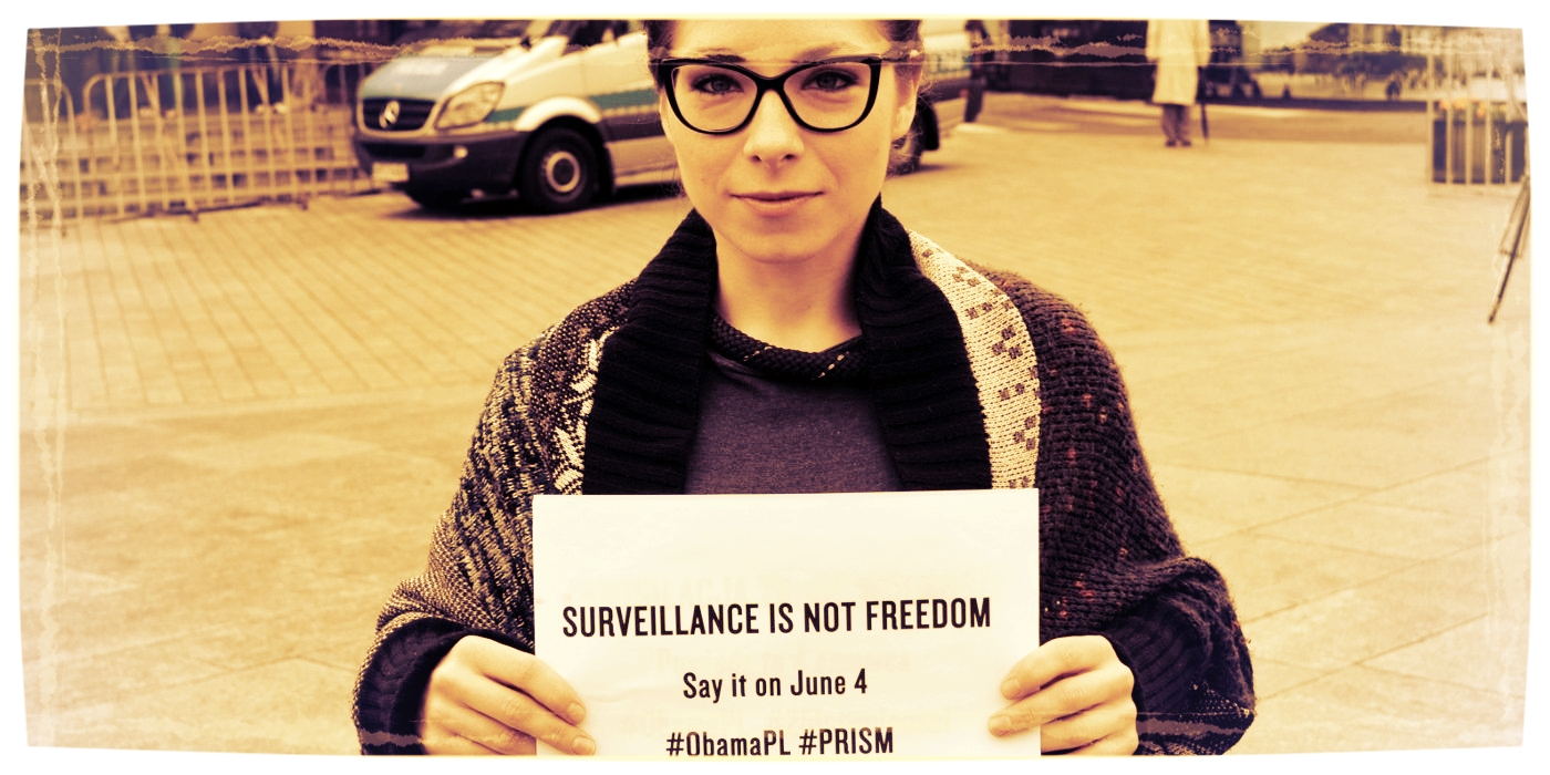 Katarzyna is defending the rights of individuals in a surveillance society. - More