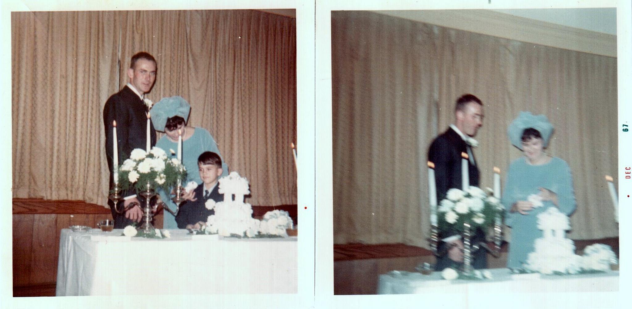 Wedding day, November 24, 1967