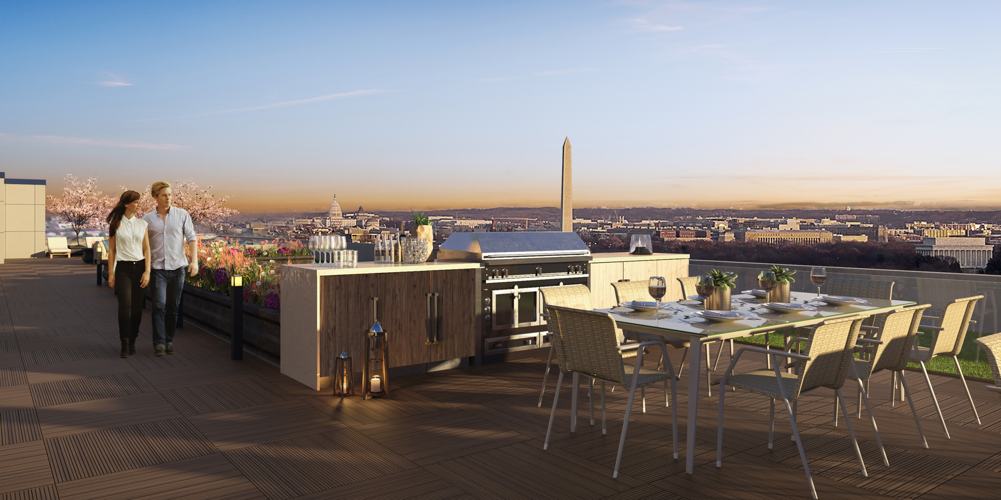 ROOFDECK WITH SPECTACULAR VIEWS