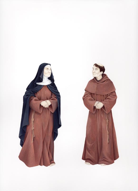 Self-Portrait as a Nun or a Monk, circa 1250