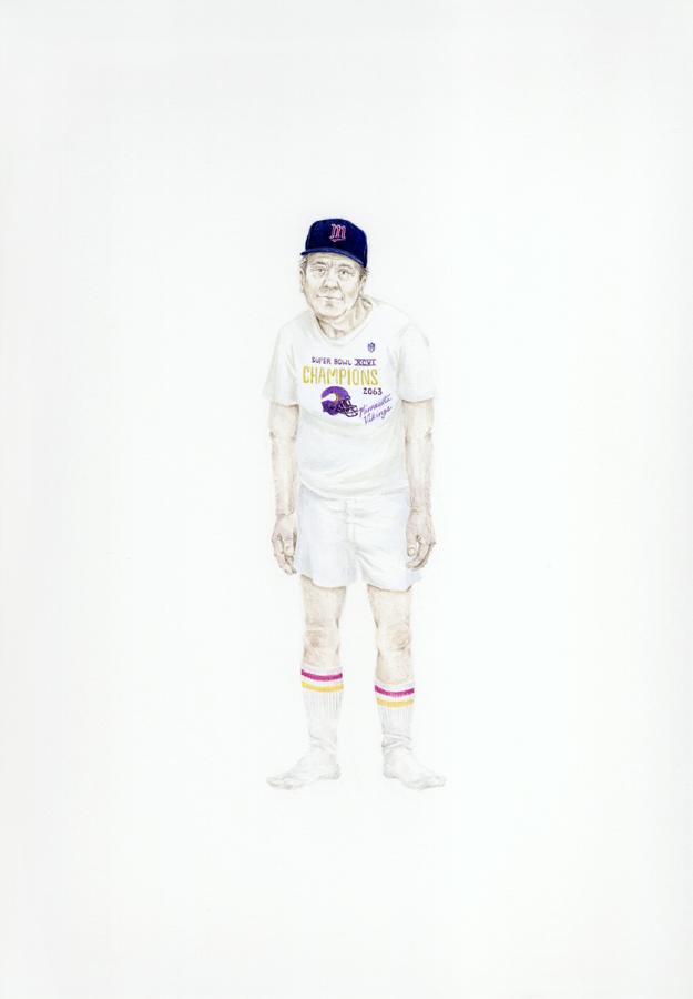 Self- Portrait as an Old Man (sports fan)