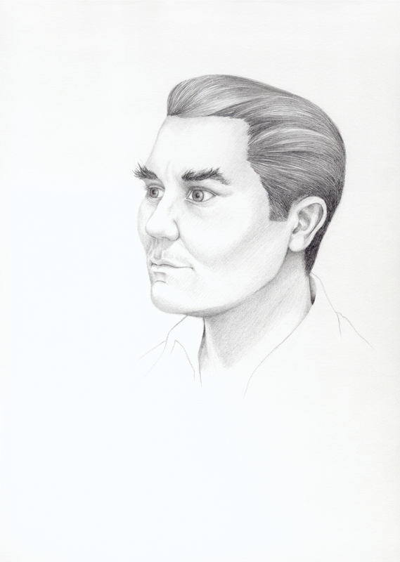 Self- Portrait with Gregory Peck Eyebrows