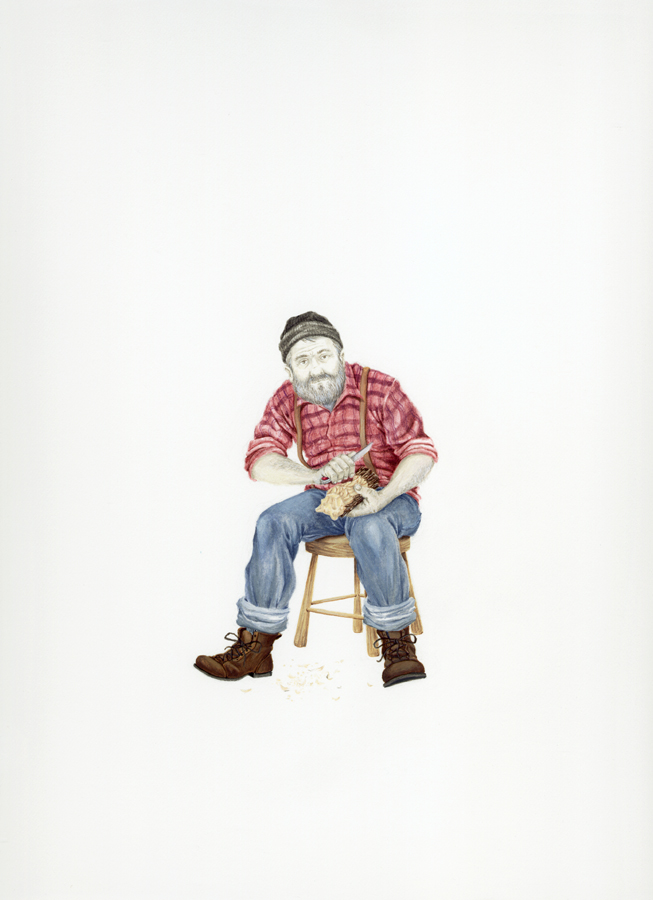 Self- Portrait as an Old Man (whittling)