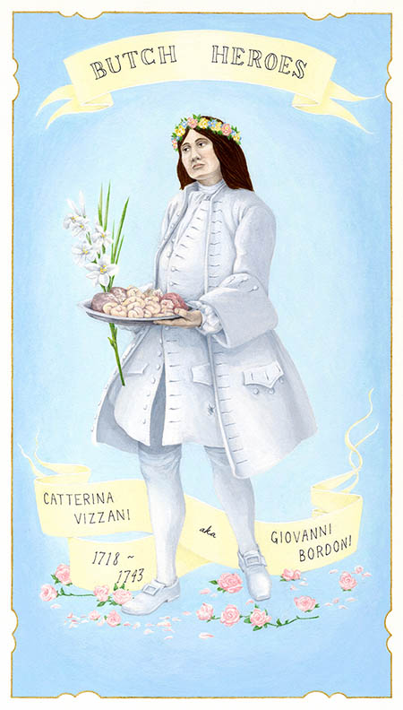 Catterina Vizzani aka Giovanni Bordoni 1718-1743 Italy gouache on paper, 11 x 7 inches 2012 In the collection of the Davis Museum at Wellesley College