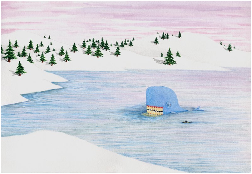 The Whale and His Friend the Submarine Journey into the River's Mouth